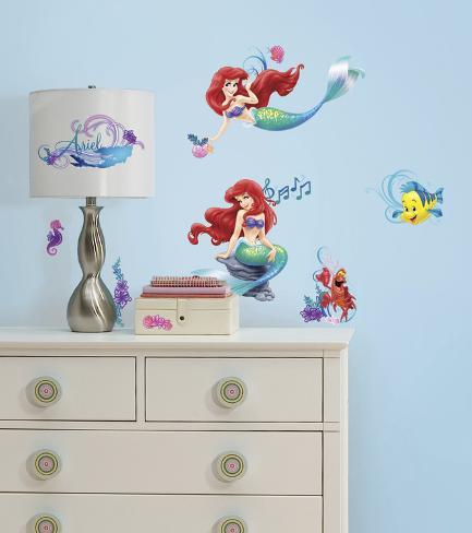 The Little Mermaid Peel and Stick Wall Decals Veggoverføringsbilde