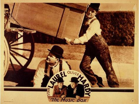 The Music Box, 1932 Premium Giclée-tryk