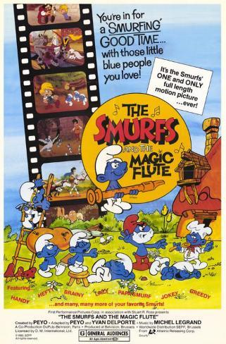 The Smurfs and the Magic Flute Masterprint