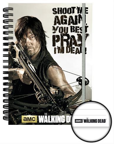 The Walking Dead Crossbow A5 Notebook Lommebog