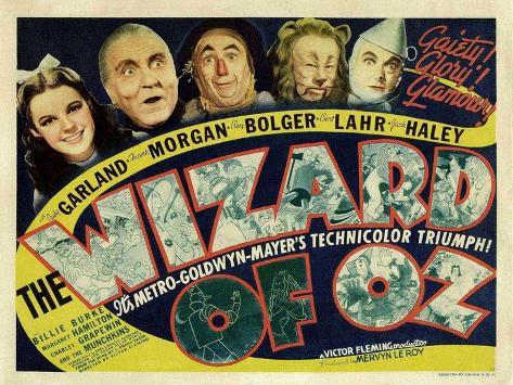 The Wizard of Oz, 1939 Premium Giclée-tryk