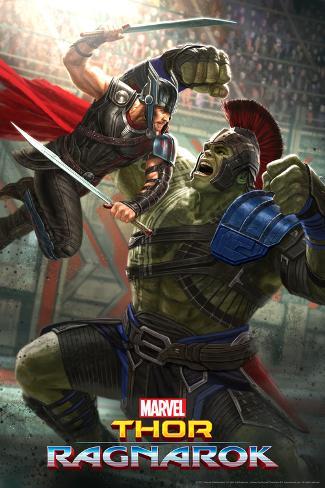 Thor: Ragnarok - Thor, Hulk Plakat