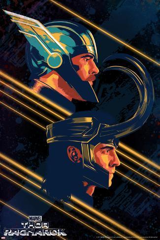 Thor: Ragnarok - Thor, Loki Kunsttrykk