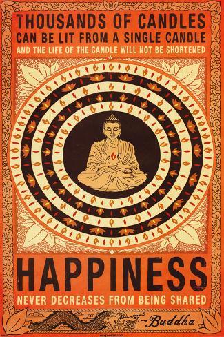 Thousands Of Candles Buddha Motivational Plakat