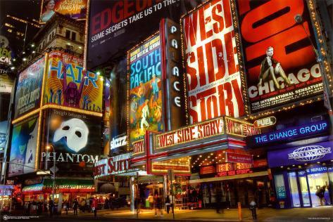 Times Square, teaterdistriktet Plakat