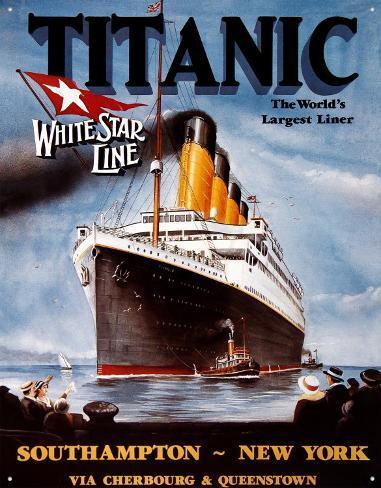 Titanic Blikskilt