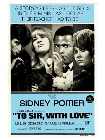 To Sir With Love, Australian Movie Poster, 1967 Kunsttryk