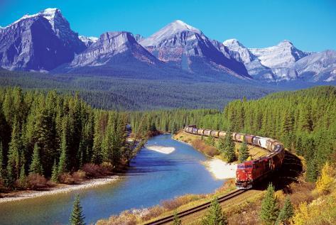 Train In The Rockies Plakat