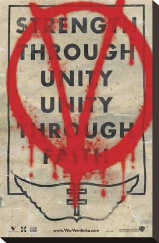 V for Vendetta Trykk på strukket lerret