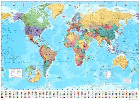 Verdenskart Gigantplakat