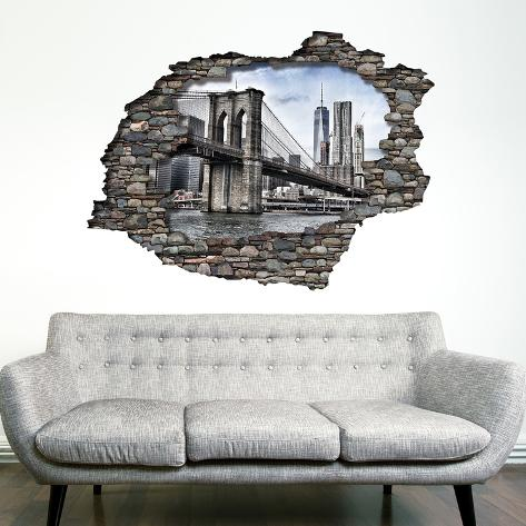 View Through the Wall - Brooklyn Bridge Veggoverføringsbilde
