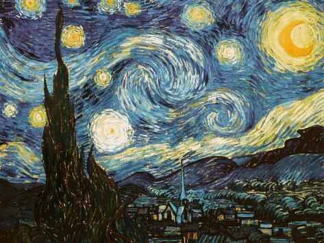 Stjernenatten, ca.1889 Giclée-tryk