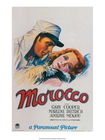 Vintage Movie Poster - Gary Cooper in Morocco Kunsttrykk