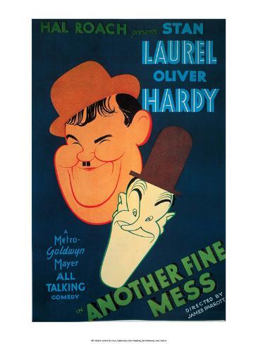 Vintage Movie Poster - Laurel & Hardy, Another Fine Mess Kunsttrykk