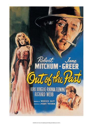 Vintage Movie Poster - Out of the Past Kunsttrykk