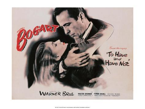 Vintage Movie Poster - To Have and Have Not Kunsttrykk