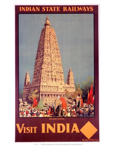Visit India, Indian State Railways, c.1930s Kunsttrykk