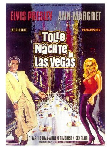 Viva Las Vegas, German Movie Poster, 1964 Kunsttrykk
