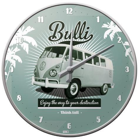 VW Retro Bulli - Wall Clock Ur