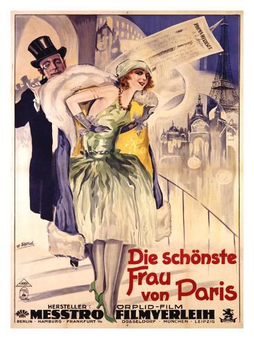 Die Schonste Frau Von Paris Giclee-trykk