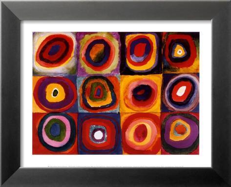 Farbstudie Quadrate, ca. 1913 Indrammet lamineret kunstryk