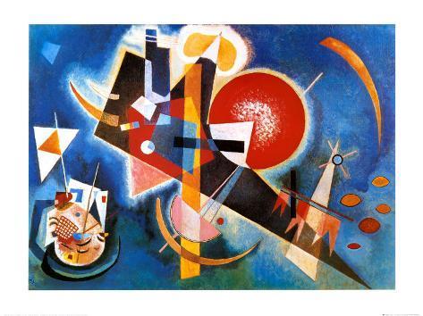 I blåt, ca. 1925 Kunsttryk