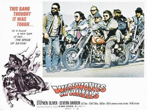 Werewolves on Wheels, Stephen Oliver, 1971 Kunsttryk