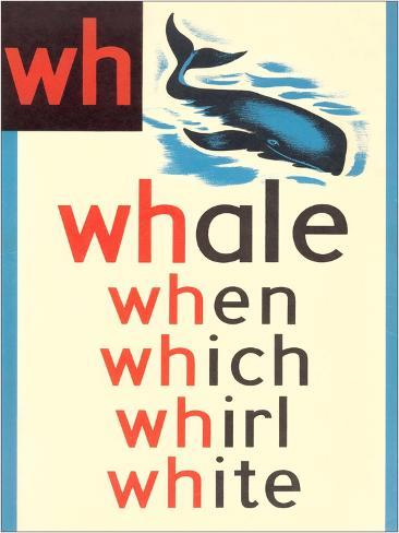 WH for Whale Kunsttryk