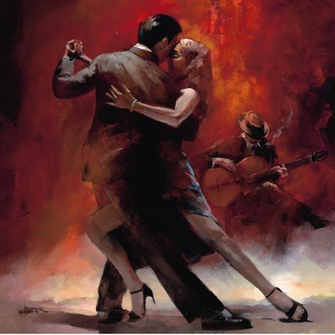 Argentinsk tango II Kunsttrykk