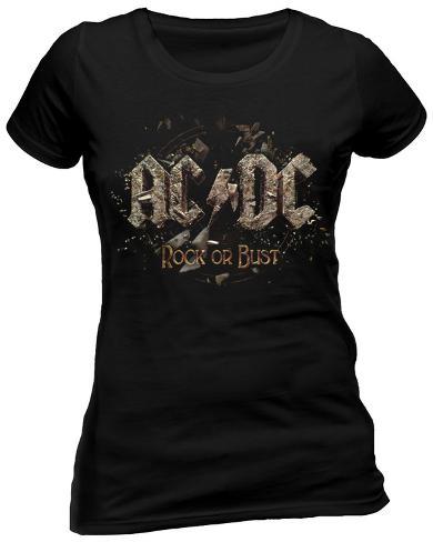 Women's: AC/DC - Rock Or Bust T-shirt til damer