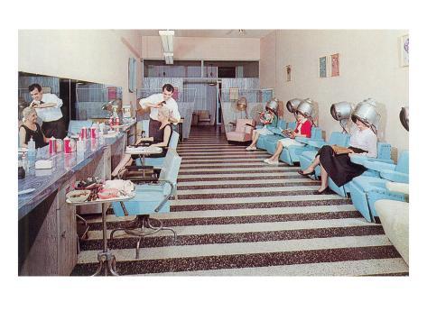 Women's Hair Salon Kunsttrykk