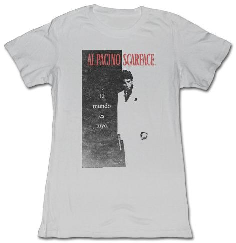 Women's: Scarface - El Mundo T-shirt til damer