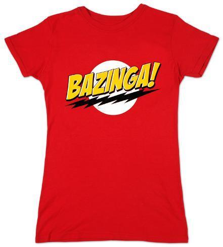 Women's: The Big Bang Theory - Bazinga T-skjorten for damer