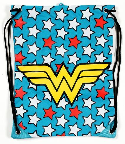 Wonder Woman Logo Cinch Bag Drawstring Bag
