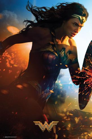 Wonder Woman- Run Plakat