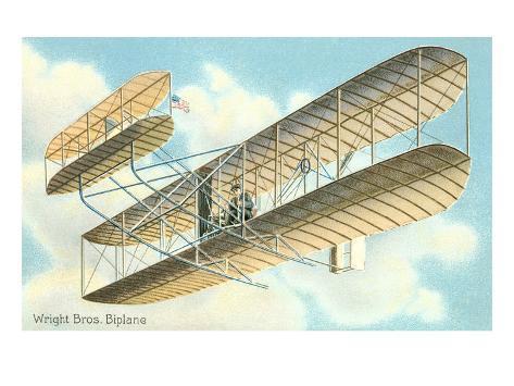 Wright Brothers Bi-plane Kunsttrykk
