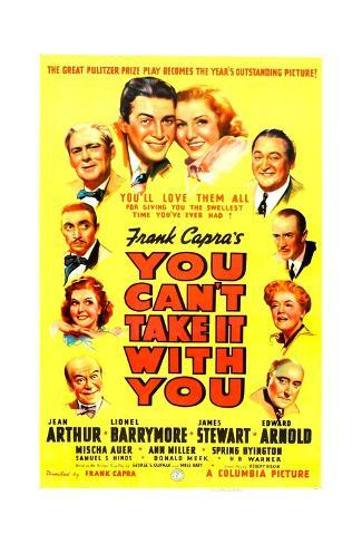 YOU CAN'T TAKE IT WITH YOU, James Stewart, Jean Arthur, 1938. Kunsttryk