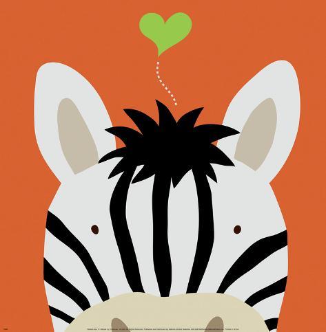 Peek-a-Boo XII, Zebra Kunsttryk