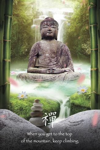 Zen-Buddha Plakat