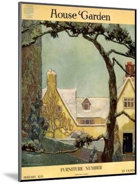 House & Garden Cover - January 1918 by Porter Woodruff