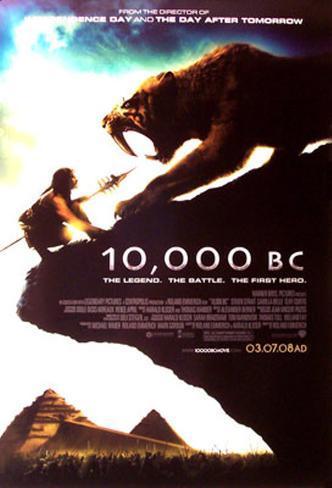 10.000 B.C. Doppelseitiges Poster