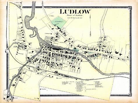 1869 landkarte von ludlow gemeinde vermont vereinigte staaten usa gicl e druck bei. Black Bedroom Furniture Sets. Home Design Ideas