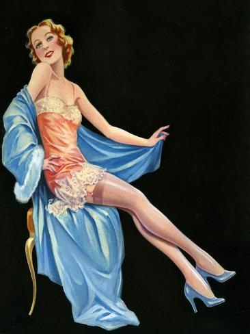 1940s UK Pin-Ups Poster Giclée-Druck