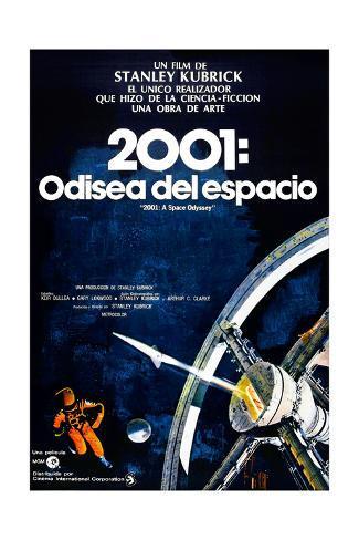2001: A Space Odyssey, (aka 2001: Una Odisea Del Espacio), Spanish Language Poster, 1968 Giclée-Druck