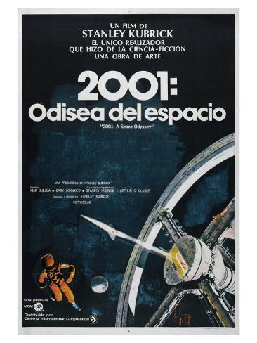 2001: A Space Odyssey, Argentine Movie Poster, 1968 Giclée-Premiumdruck