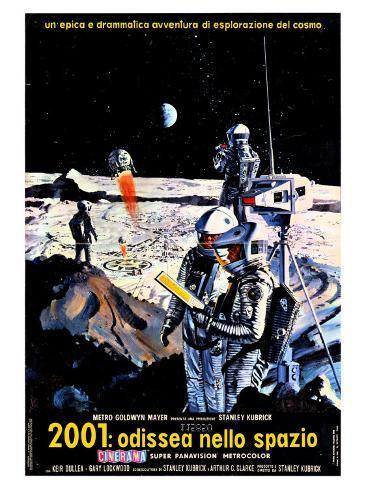 2001: A Space Odyssey, Italian Movie Poster, 1968 Kunstdruck