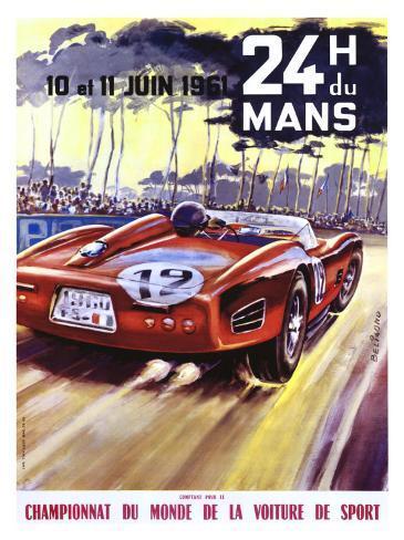 24 Hour du le Mans Ferrari GP Giclée-Druck