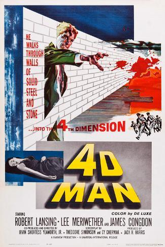 4D Man Poster