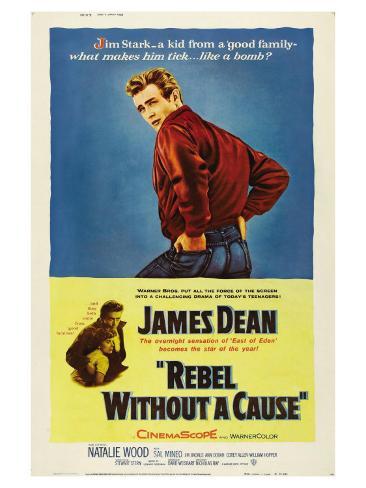 50 jaar Rebel Without a Cause, James Dean, 1955, Engelse tekst Kunstdruk