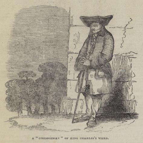 A Collegeman of King Charles's Ward Giclée-Druck